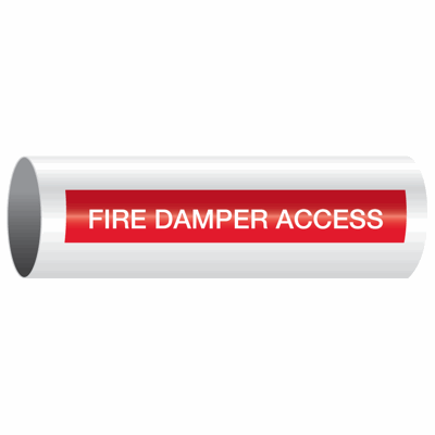 Opti-Code™ Self-Adhesive Pipe Markers - Fire Damper Access