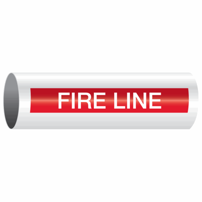 Opti-Code™ Self-Adhesive Pipe Markers - Fire Line