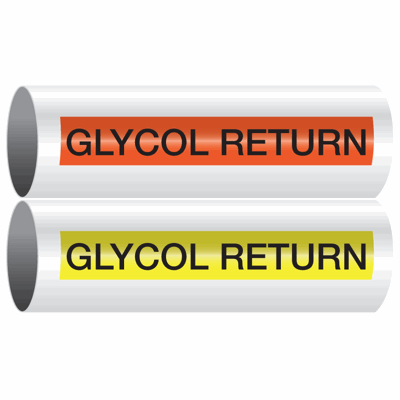 Opti-Code™ Self-Adhesive Pipe Markers - Glycol Return