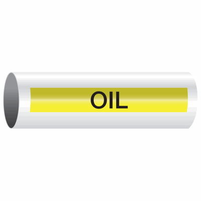 Opti-Code™ Self-Adhesive Pipe Markers - Oil