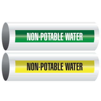 Opti-Code™ Self-Adhesive Pipe Markers - Non-Potable Water