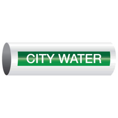 Opti-Code™ Self-Adhesive Pipe Markers - City Water
