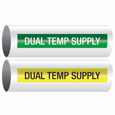 Opti-Code™ Self-Adhesive Pipe Markers - Dual Temp Supply