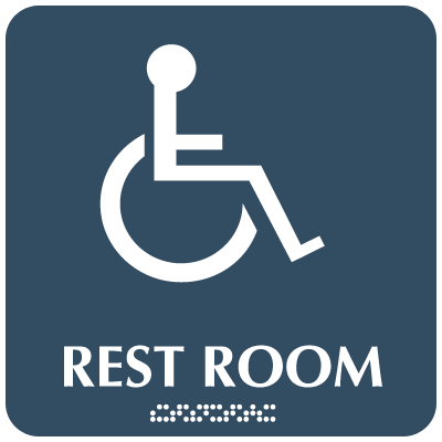 Optima ADA Handicapped Access Restroom Signs