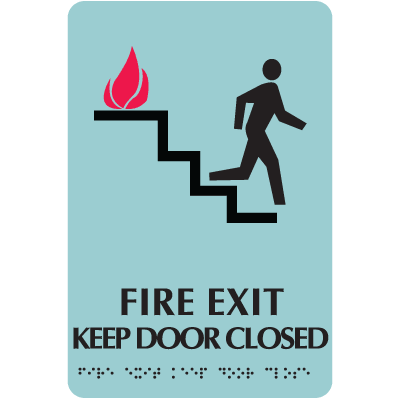 Optima Elevator and Stairwell Evacuation Signs - Fire Exit