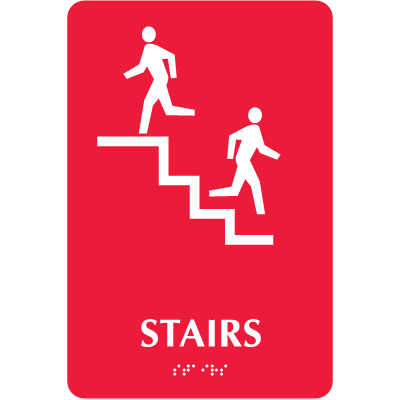 Optima Elevator and Stairwell Evacuation Signs - Stairs