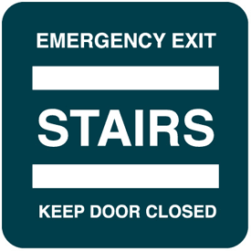 Emergency Exit Optima Wall Mount Signs