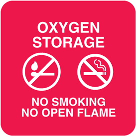 Oxygen Storage Optima Wall Mount Signs