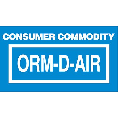ORM Consumer Commodity Shipment Labels