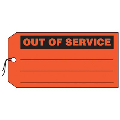 Out Of Service - Production Status Tags