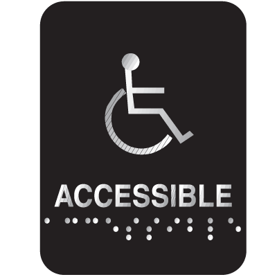 Outdoor Aluminum Braille ADA Signs - Accessible