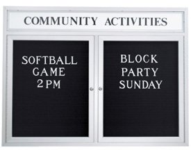 Custom Header Outdoor Enclosed Letterboards