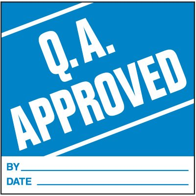 Q.A. Approved Handling Label