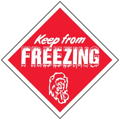 Keep From Freezing Handling Label