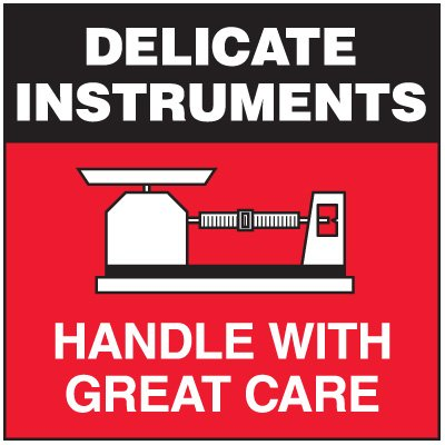 Delicate Instruments Package Handling Label