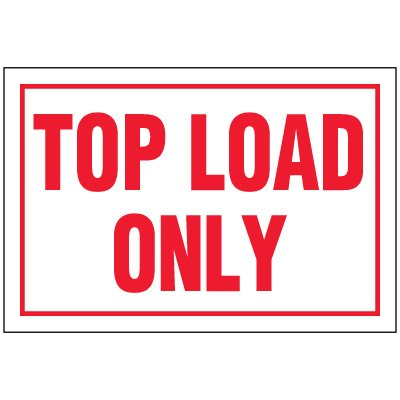 Top Load Package Handling Label
