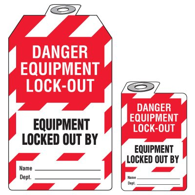 Padlock Lockout Tags - Danger Equipment Lock-Out