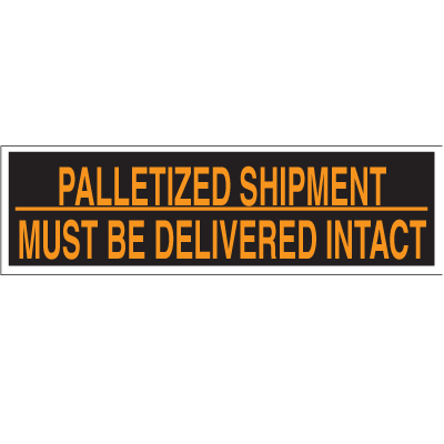 Palletized Shipment Pallet Labels