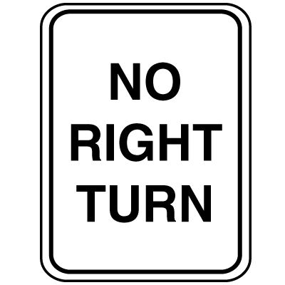 Parking Lot Signs - No Right Turn