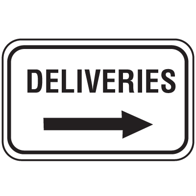 Parking Lot Signs - Deliveries
