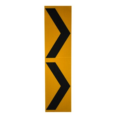 Pedestrian Crossing Decal-Black/Yellow