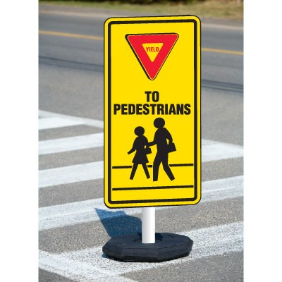 Yield To Pedestrians Flexible Sign System