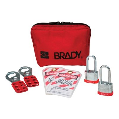 Brady Personal Padlock Pouch w/keyed-alike Steel Padlocks - Part Number - 105970 - 1/Kit