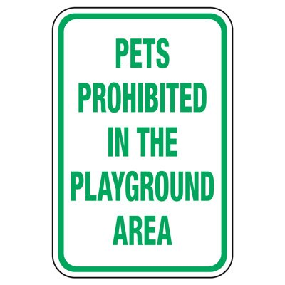 Pets Prohibited - Playground Sign