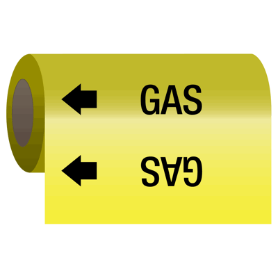 Self-Adhesive Pipe Markers-On-A-Roll - Gas
