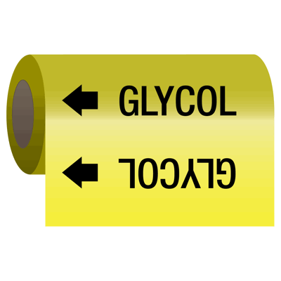 Self-Adhesive Pipe Markers-On-A-Roll - Glycol