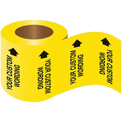 Self-Adhesive Pipe Markers-On-A-Roll - Heating Return