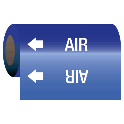 Self-Adhesive Pipe Markers-On-A-Roll - Air