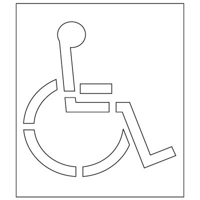 Pavement Tool Plastic Graphic Stencils - Handicap Symbol (California DOT) S-3048 D