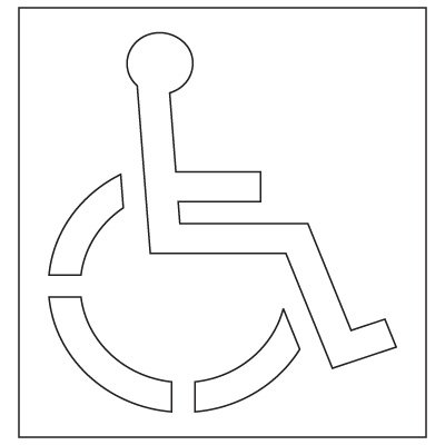 Pavement Tool Plastic Graphic Stencils - Handicap Symbol (Texas DOT) S-3148 D