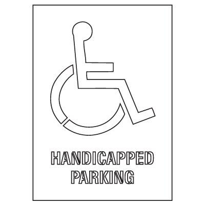 Plastic Graphic Stencils - Handicapped Parking