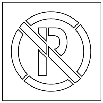 Plastic Graphic Stencils - No Parking Symbol