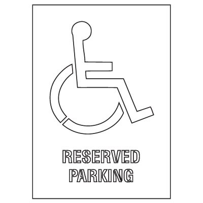 Plastic Graphic Stencils - Reserved Parking