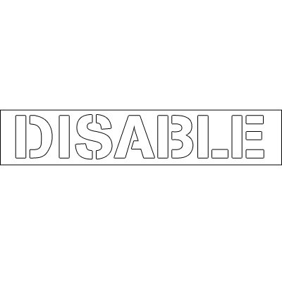 Plastic Word Stencils - Disabled