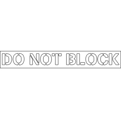 Plastic Word Stencils - Do Not Block
