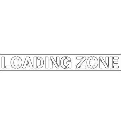 Plastic Word Stencils - Loading Zone