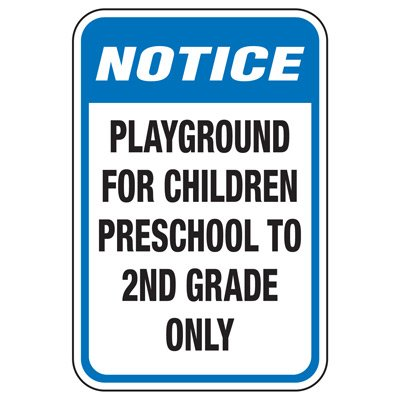 Playground For Children Preschool - Playground Sign