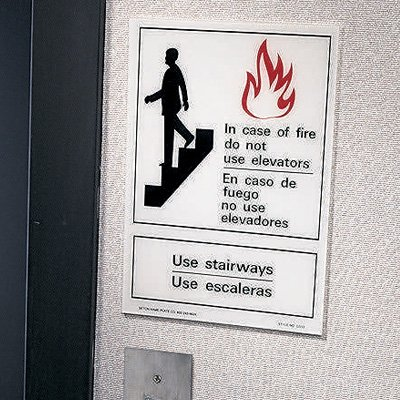 Polished Plastic Office Signs - In Case of Fire