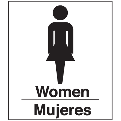Polished Plastic Office Signs - Women/Mujeres