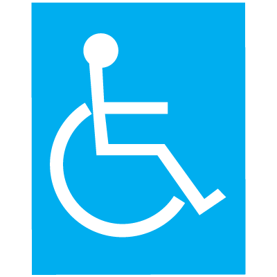 Polished Plastic Office Signs - Handicap Accessibility
