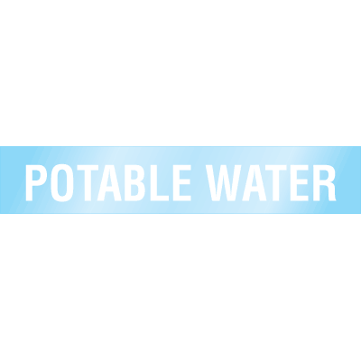 Poly-Code™ Clear Self-Adhesive Pipe Markers - Potable Water