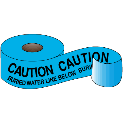 Underground Warning Tape - Caution Buried Water Line Below