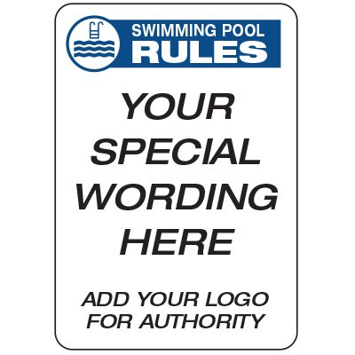 Pool Rules - Custom School Safety Signs
