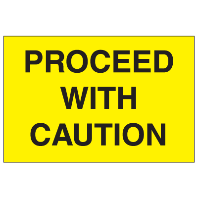 Portable Emergency Response Signs - Proceed With Caution