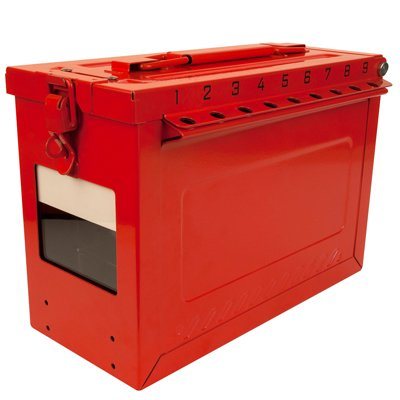 Portable Group Lock Box with Key Window & Rewritable Tag