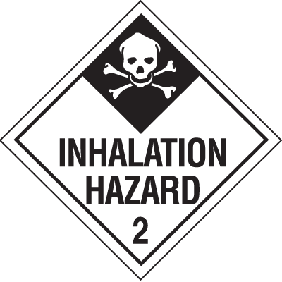 Inhalation Hazard 2 Hazardous Material Placards